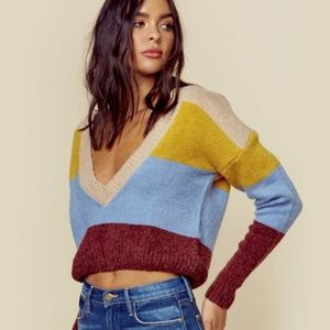 For Love and Lemons Wellesley Sweater V-Neck M